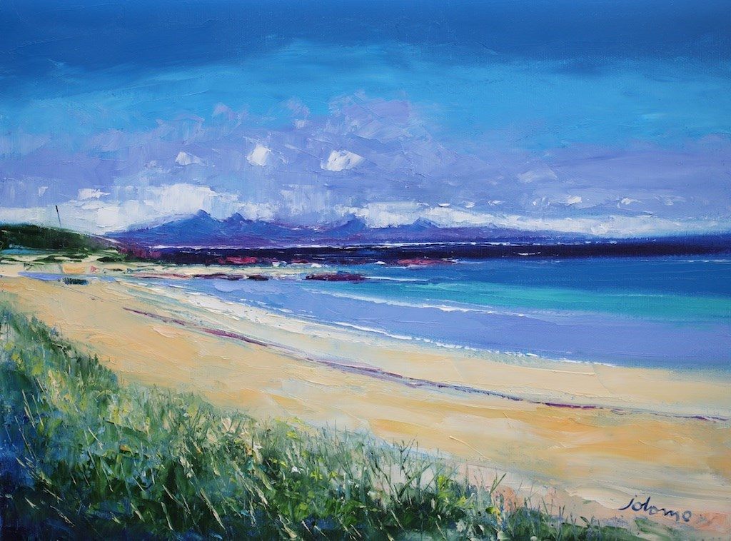 Summerlight Balnahard Beach Isle of Colonsay by John Lowrie Morrison -  sized 24x18 inches. Available from Whitewall Galleries